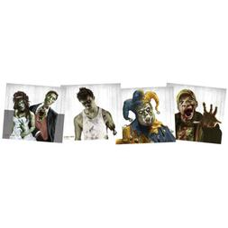 "Zombie Targets 9.75""x9"" 5ea of 4 Designs"